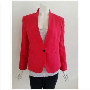 Ann Taylor LOFT Red Blazer Jacket